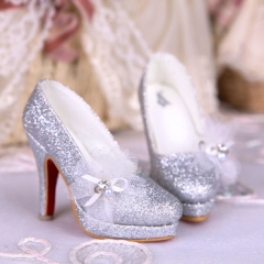 1/3 Dreaming crystal silver shoes