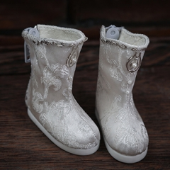 1/6 Brocade white boots